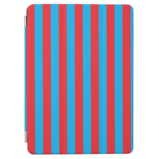 Blue and Red Vertical Stripes iPad Air Cover