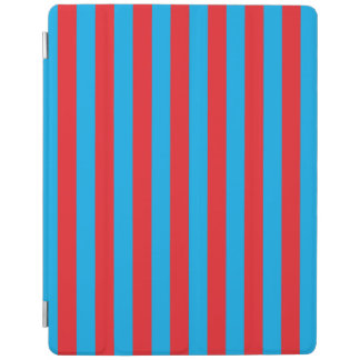 Blue and Red Vertical Stripes iPad Cover