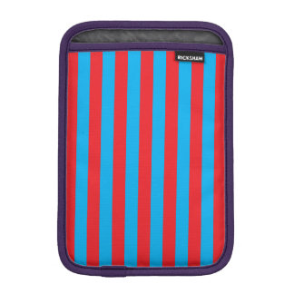 Blue and Red Vertical Stripes iPad Mini Sleeve