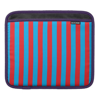 Blue and Red Vertical Stripes iPad Sleeve