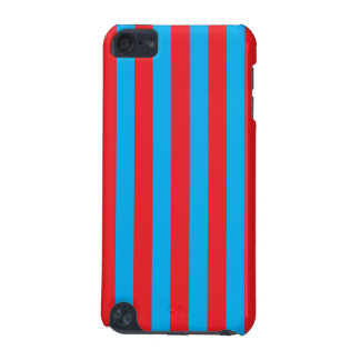 Blue and Red Vertical Stripes iPod Touch 5G Case