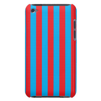 Blue and Red Vertical Stripes iPod Touch Covers