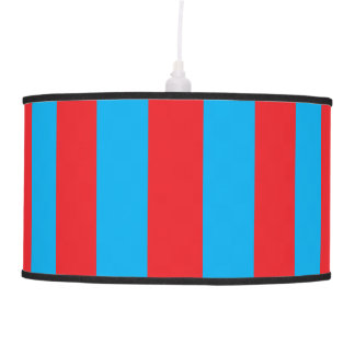 Blue and Red Vertical Stripes Pendant Lamp
