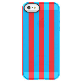 Blue and Red Vertical Stripes Permafrost® iPhone SE/5/5s Case
