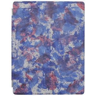 Blue and Red Watercolor iPad Cover