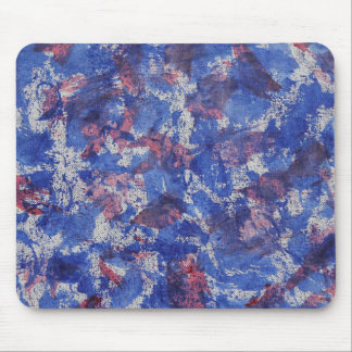 Blue and Red Watercolor Mouse Pad