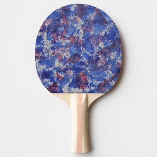 Blue and Red Watercolor Ping Pong Paddle