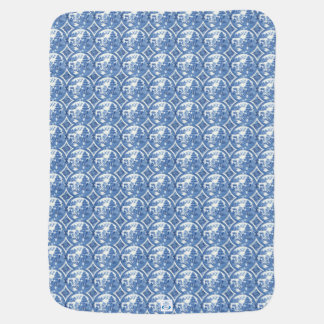 Blue and Red Willow China Pattern  Baby Blanket
