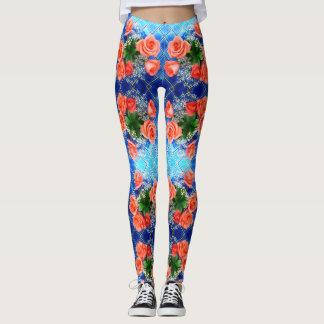Blue and Roses Leggings