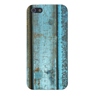 Blue and rust rugged weathered rusted metal cover for iPhone 5/5S