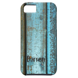 Blue and rust rugged weathered rusted metal iPhone 5 covers