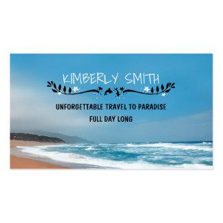 Blue and Sandy Beach Whimsical Business Card