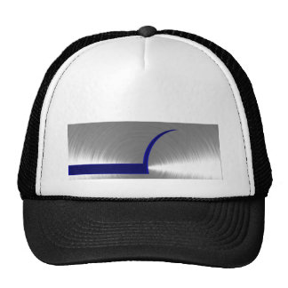 Blue and Silver Brushed Metal Trucker Hat