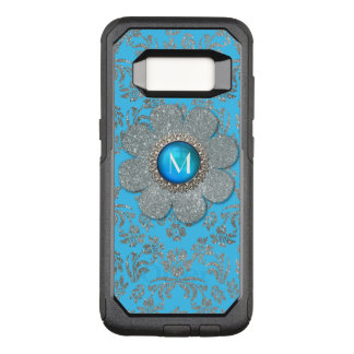 Blue and Silver Floral Otterbox Samsung S8 Case