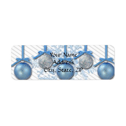 Blue and Silver Glitter Ornaments