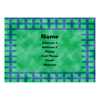 Blue and Squares Large Business Cards (Pack Of 100)