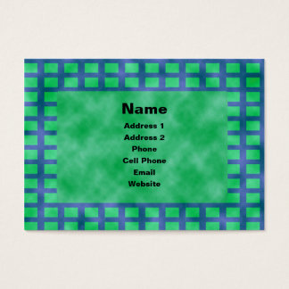 Blue and Squares Business Card