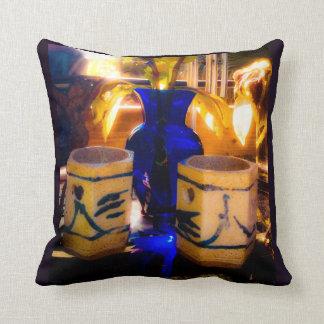 Blue and Sunlight Throw Pillow