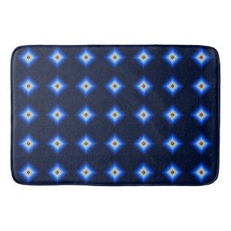 Blue and Tan Diamond Bath Mat
