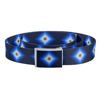 Blue and Tan Diamond Belt