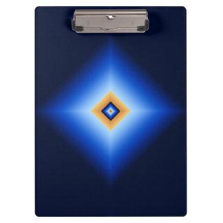 Blue and Tan Diamond Clipboard