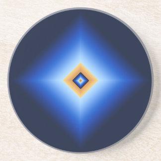 Blue and Tan Diamond Coaster