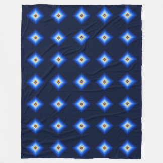 Blue and Tan Diamond Fleece Blanket
