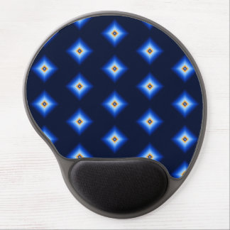Blue and Tan Diamond Gel Mouse Pad