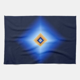 Blue and Tan Diamond Kitchen Towel