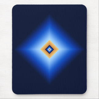 Blue and Tan Diamond Mouse Pad