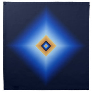 Blue and Tan Diamond Napkin