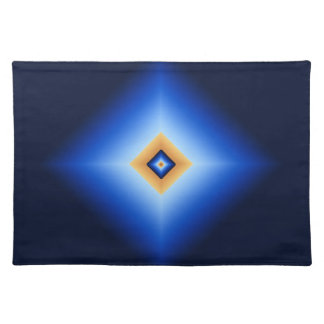 Blue and Tan Diamond Placemat
