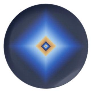 Blue and Tan Diamond Plate