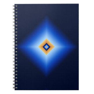 Blue and Tan Diamond Spiral Notebook