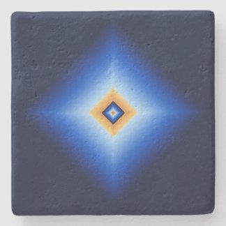 Blue and Tan Diamond Stone Coaster