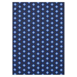 Blue and Tan Diamond Tablecloth