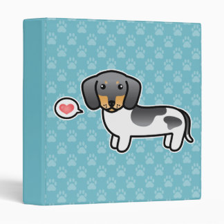 Blue And Tan Piebald Smooth Coat Dachshund Dog Vinyl Binders