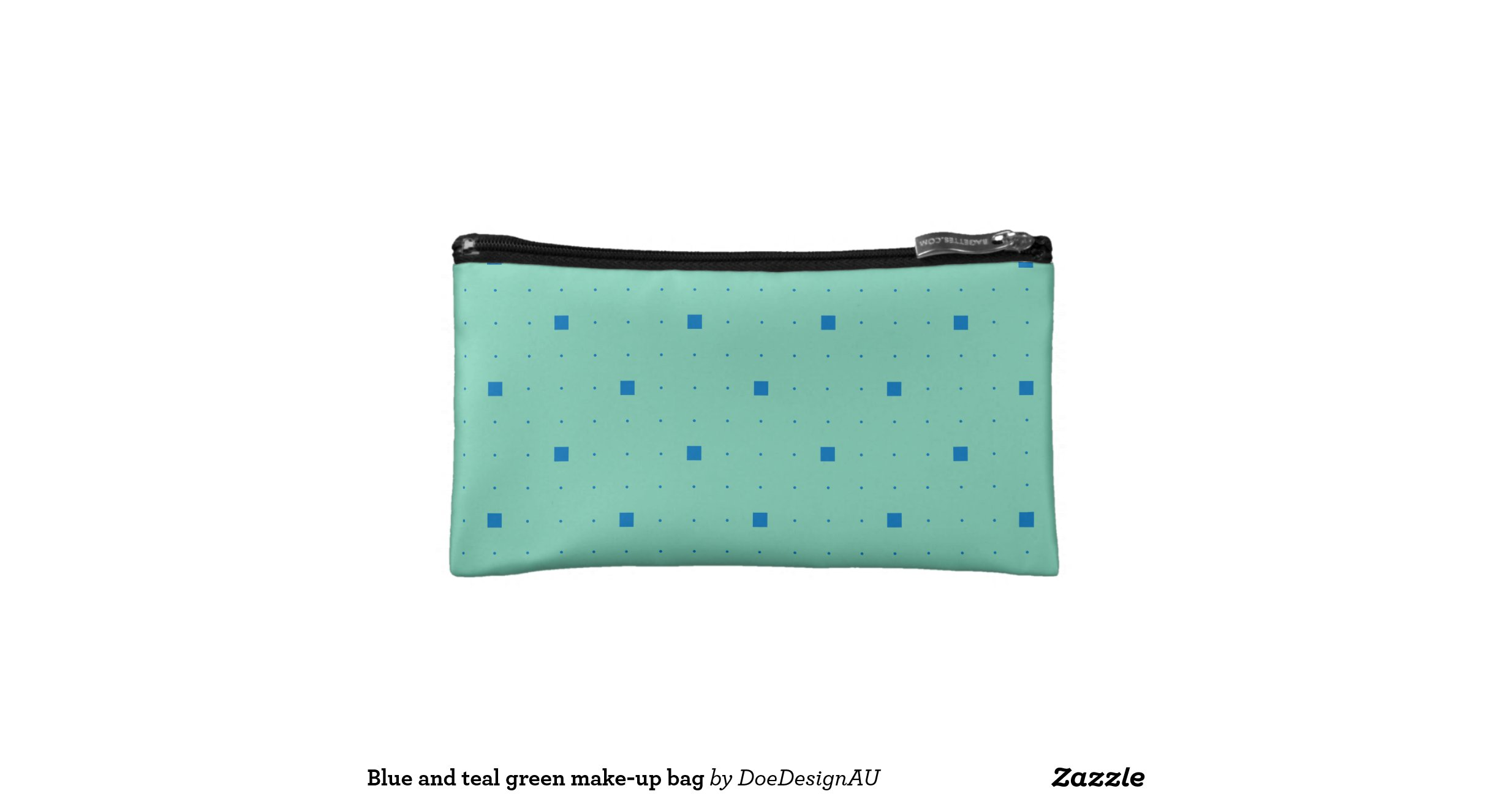 blue and teal green make up bag cosmetic bags zazzle. Black Bedroom Furniture Sets. Home Design Ideas