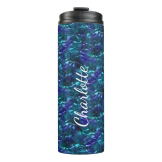 Blue and Teal Wrinkled Foil Thermal Tumbler