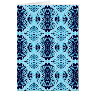 Blue and turquoise lace, note card