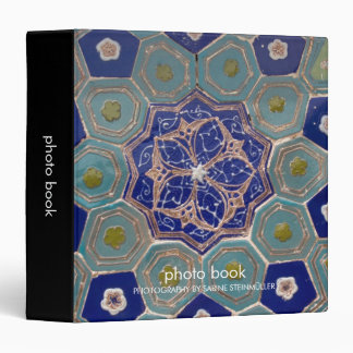 Blue and Turquoise Maiolica Tiles Binder