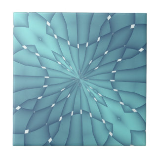Blue and Turquoise Metallic Star Tile