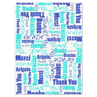 Blue and Turquoise THANK YOU Word Collage Tissue Paper