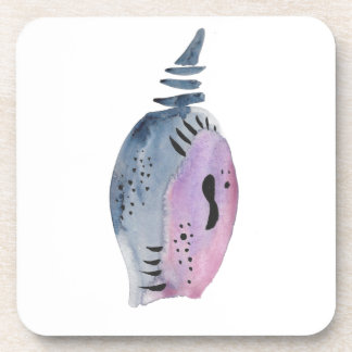 Blue and violet cocoon coaster