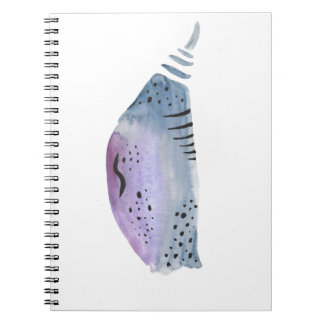 Blue and violet cocoon notebooks