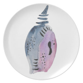 Blue and violet cocoon party plates