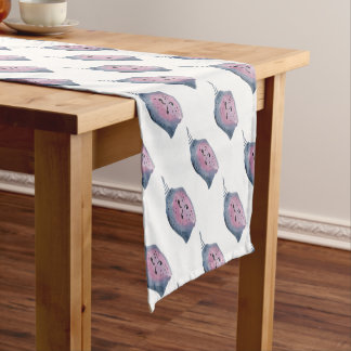 Blue and violet cocoon short table runner