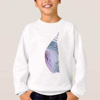 Blue and violet cocoon sweatshirt