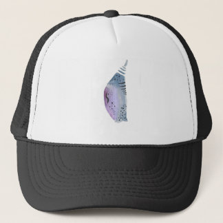 Blue and violet cocoon trucker hat