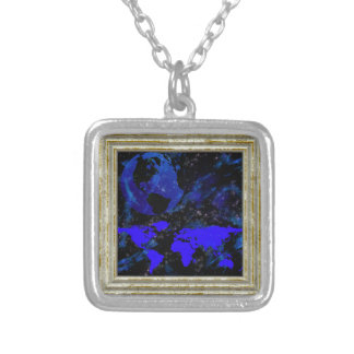 Blue And Violet World Silver Plated Necklace